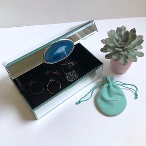 Mirrored Geode Jewelry Trinket Organizer Box